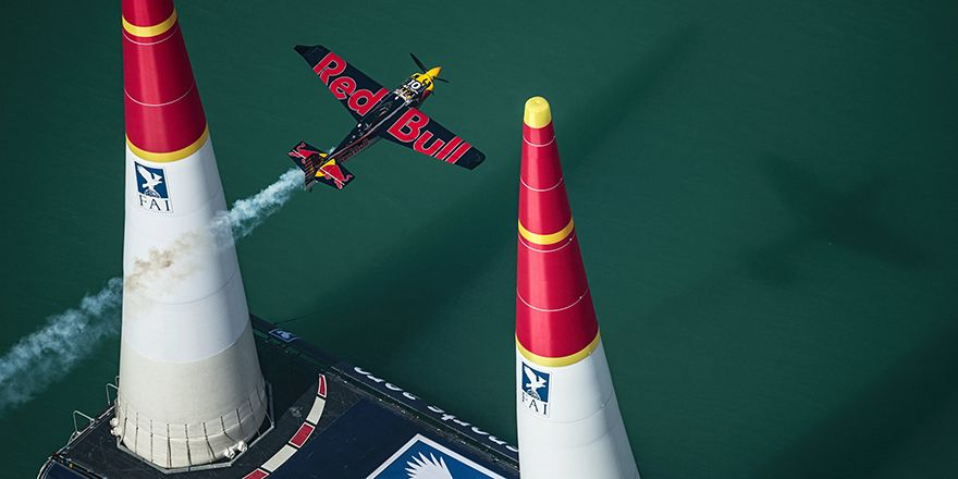 Kirby Chambliss of the United States performs during the finals of the first stage of the Red Bull Air Race World Championship in Abu Dhabi, United Arab Emirates on March 12, 2016. // Joerg Mitter / Red Bull Content Pool // P-20160312-00345 // Usage for editorial use only // Please go to www.redbullcontentpool.com for further information. //