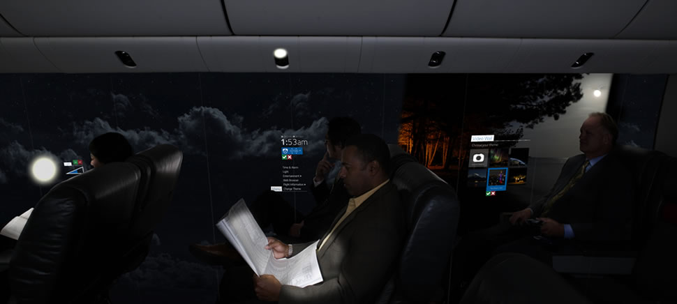 Концепция безиллюминаторного самолёта / слайд 4