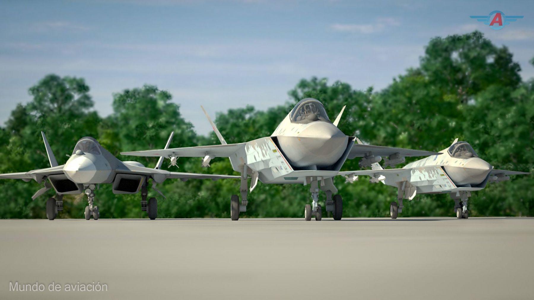 Su-75 Checkmate / Mundo de Aviación / © Marcos Gandullo, Argentina