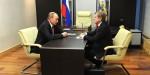 Путин встретился с главой компании «Аэрофлот» Виталием Савельевым