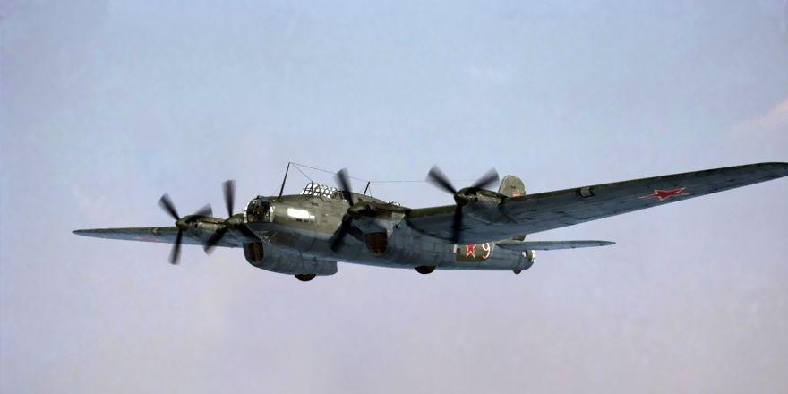 Пе-8 - дальний высотный бомбардировщик