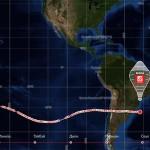 Шар «Мортон» с Фёдором Конюховым летит над Атлантическим океаном