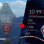 Аэростат Фёдора Конюхова летит над Тихим океаном