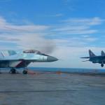 На авианесущем крейсере «Адмирал Кузнецов» начались полёты истребителей МиГ-29КР/КУБ