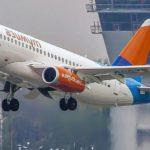 Самолёты SSJ100 авиакомпании «Азимут» — фотосправка