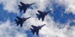 «Русские Витязи» отработали перехват и уничтожение истребителя условного противника