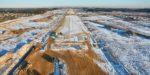 Фотоотчёт о ходе строительства ВПП-3 в аэропорту Шереметьево