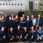 Сотый SSJ100 прошёл кастомизацию на заводе «Авиастар-СП» в Ульяновске
