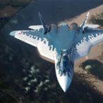 Минобороны опубликовало видео полетов истребителей Су-57