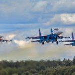 МАКС-2019: проход Су-30СМ на скорости менее 80 км в час