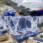На первом в 2020 году самолёте SSJ100 установлен интерьер