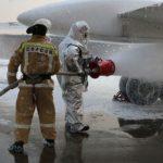 В ходе подготовке к летней навигации в Платове состоялись учения аварийно-спасательной команды