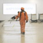 В аэропорту Стригино провели полную профилактическую дезинфекцию аэровокзала