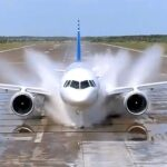 «Купание» МС-21 жарким летом в Ульяновске