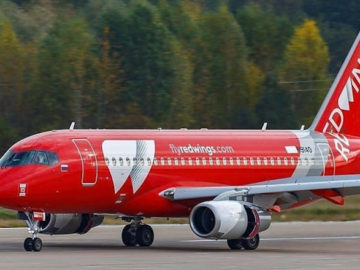SSJ100 red wings