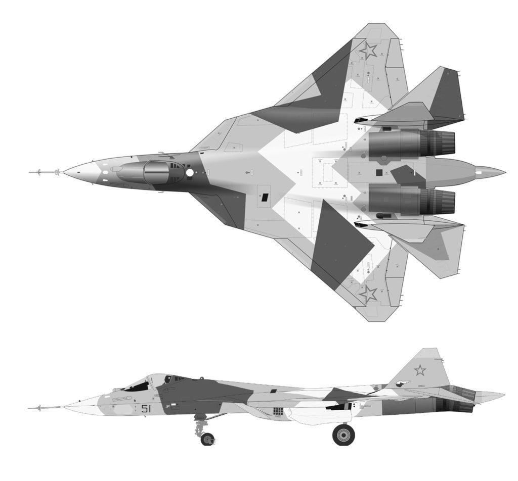 Су-57 рисунок