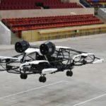 Беспилотный дрон-такси проходит испытания на Малой спортивной арене «Лужники»