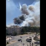 Бе-200ЧС тушит пожары в Турции и Греции