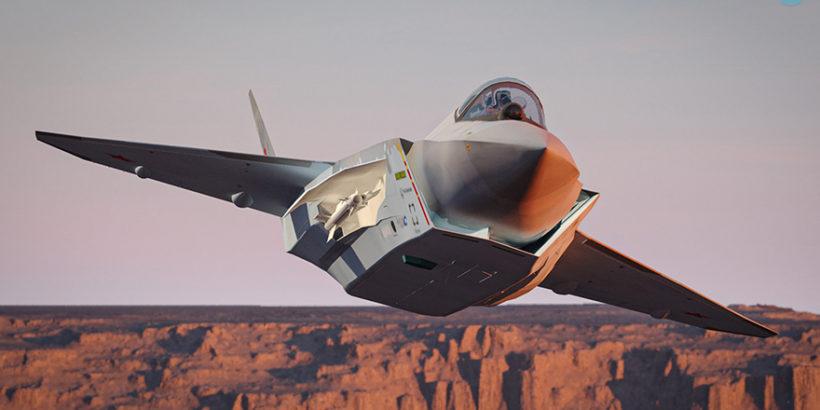 Арт-альбом с 3D-изображениями нового Су-75 авиаинженера из Аргентины